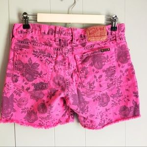 Lucky Brand • Vintage 90s Floral Jean Shorts 27